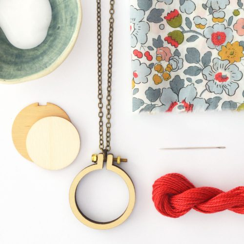 Liberty mini hoop necklace