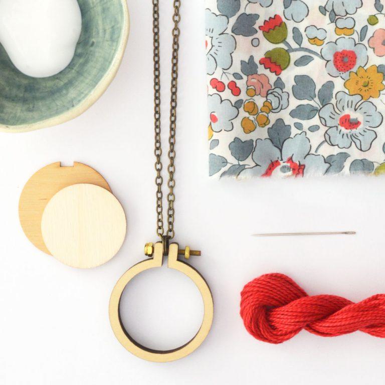 Liberty mini hoop necklace