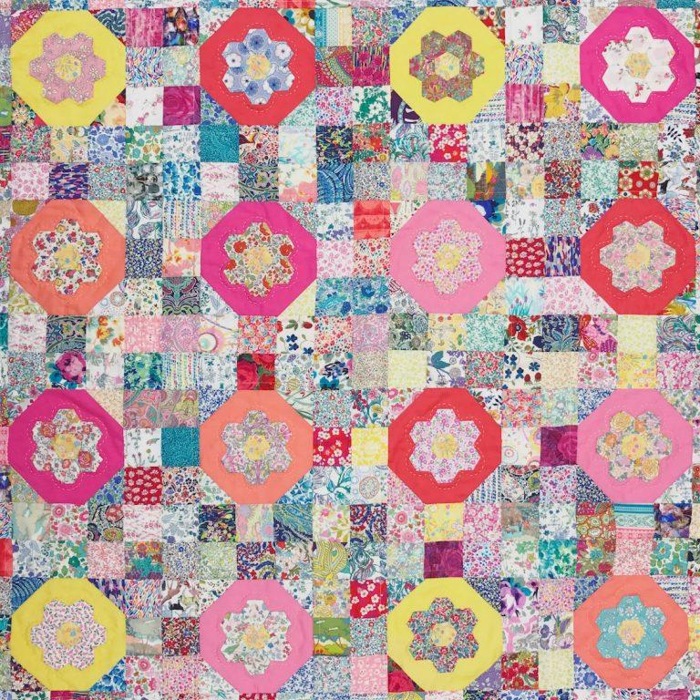 Whats up Buttercup? Liberty Flower Garden Quilt