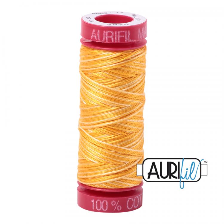 Golden Glow 3920 12wt Aurifil Thread
