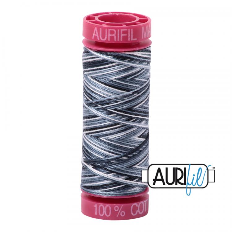 Graphite 4665 12wt Aurifil Thread