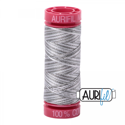 Aurifil Thread 12wt – 4670 Silver Fox