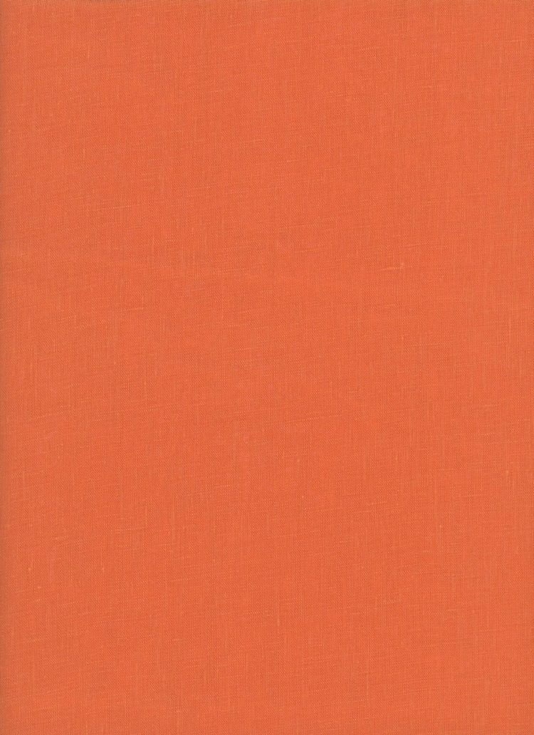 Rusty Orange #136 The Strawberry Thief Linen - 100% Linen