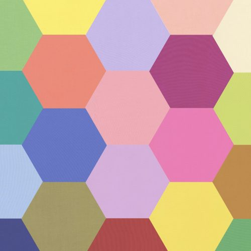 2 inch Hexagons – Rainbow Solids