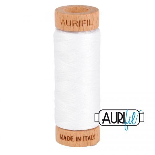 Aurifil Thread 80wt – 2024 White