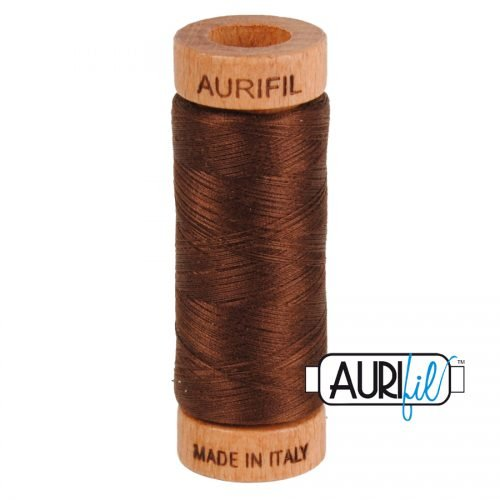 Aurifil Thread 80wt – 2360 Chocolate