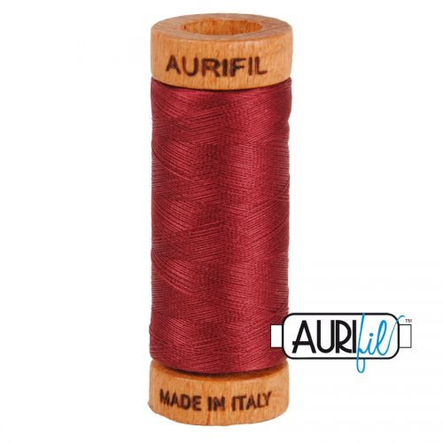 Aurifil Thread 80wt – 2460 Dark Carmine Red