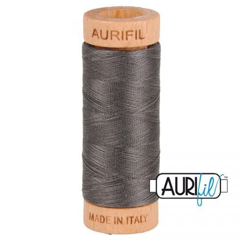 Aurifil Thread 80wt – 2630 Dark Pewter