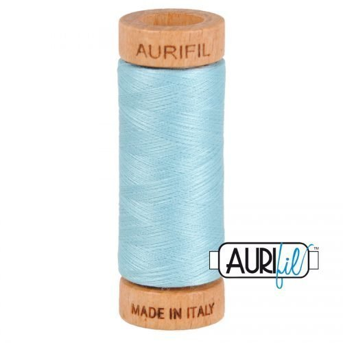Aurifil Thread 80wt – 2805 Light Grey Turquoise