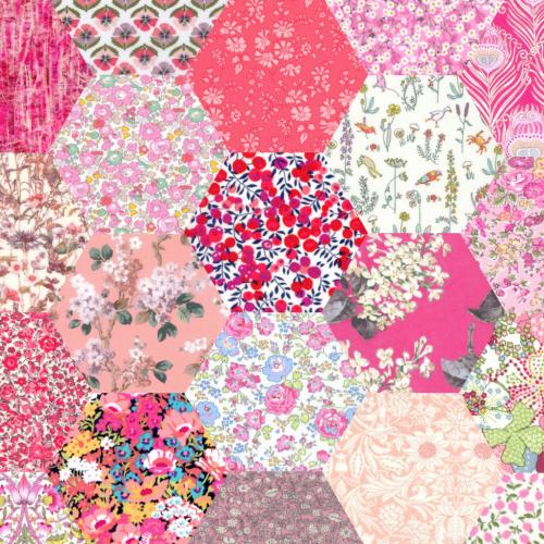 2 inch Hexagons – Pink