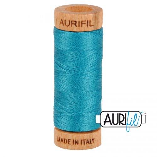 Aurifil Thread 80wt – 4182 Dark Turquoise