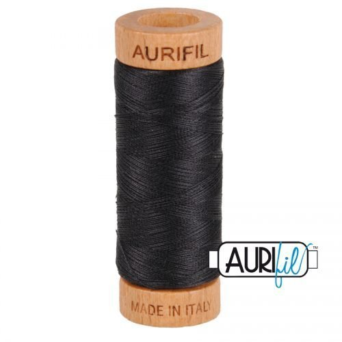 Aurifil Thread 80wt – 4241 Very Dark Grey
