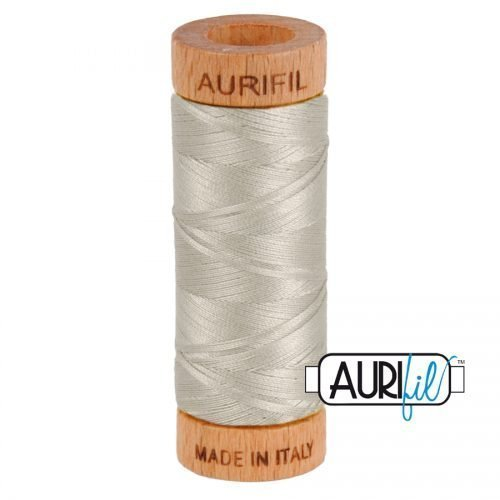 Aurifil Thread 80wt – 5021 Light Grey