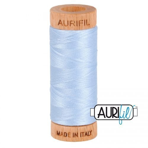 Aurifil Thread 80wt – 2710 Light Robins Egg