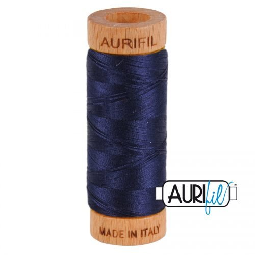 Aurifil Thread 80wt – 2785 Very Dark Navy