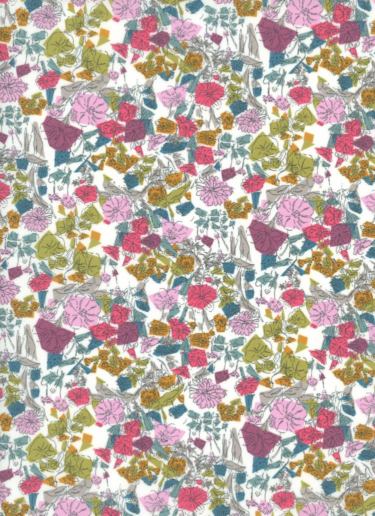 Confetti Flowers C - Liberty Tana Lawn SS20 - From London with Love - Liberty of London