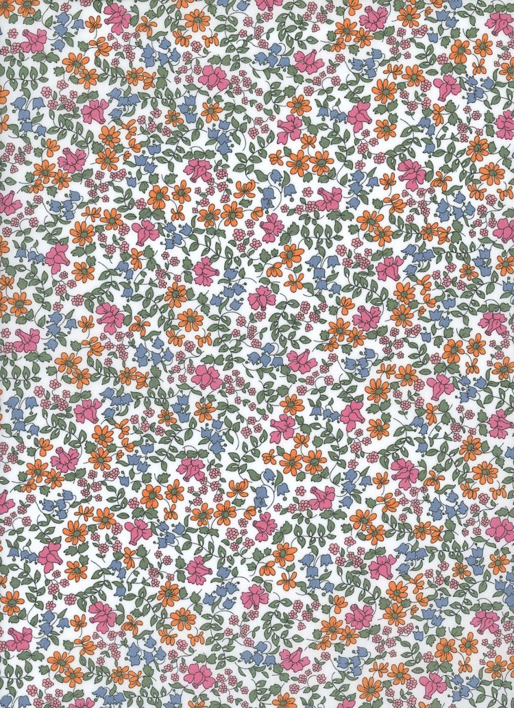 Emilia's Blooms C - Liberty Tana Lawn Classic Collection - Liberty of London