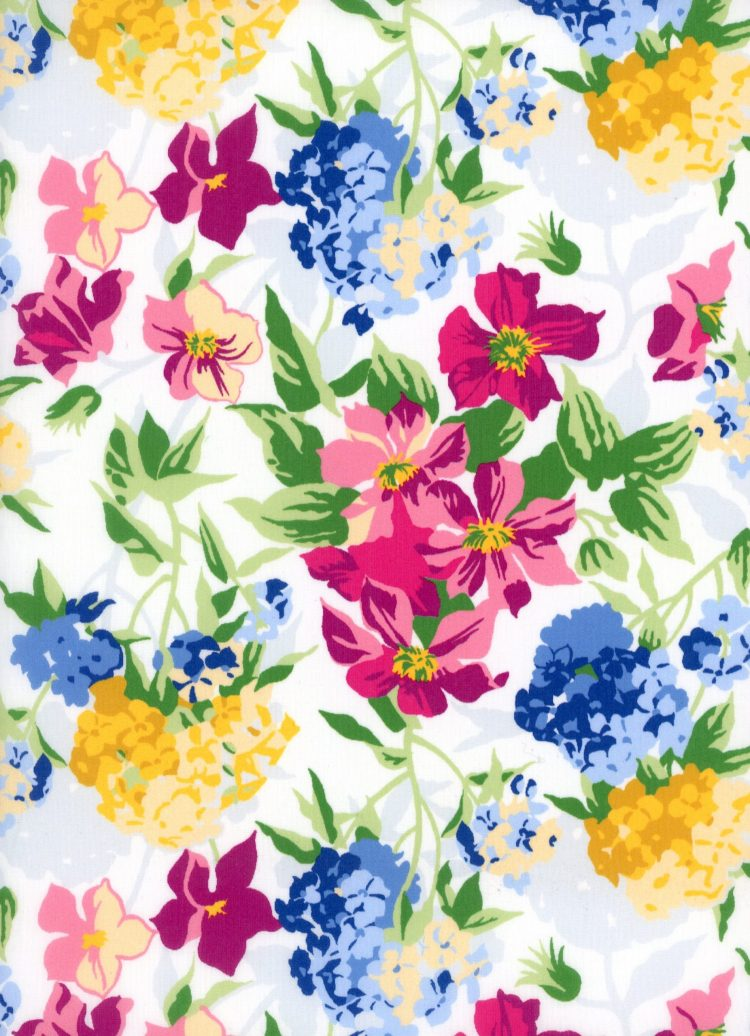 Essex bouquet A - Liberty Tana Lawn Botanicals Collection - Liberty of London