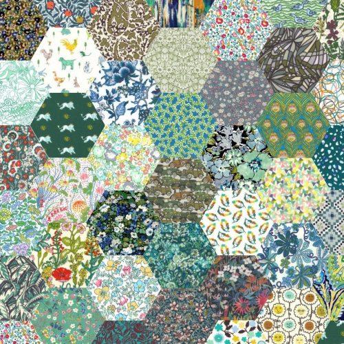 1 inch Hexagons – Green