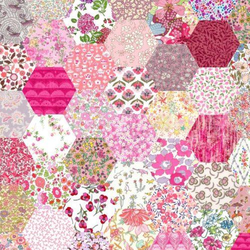 1 inch Hexagons – Pink