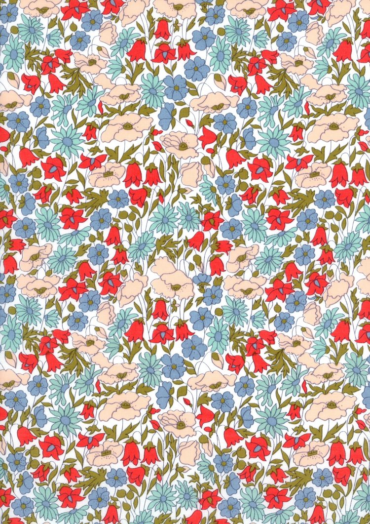 Poppy and Daisy A - Liberty Tana Lawn Classic Collection - Liberty of London
