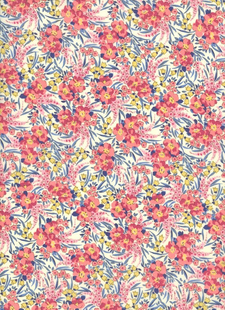 Swirling Petals 19A - Liberty Tana Lawn Classic Collection - Liberty of London