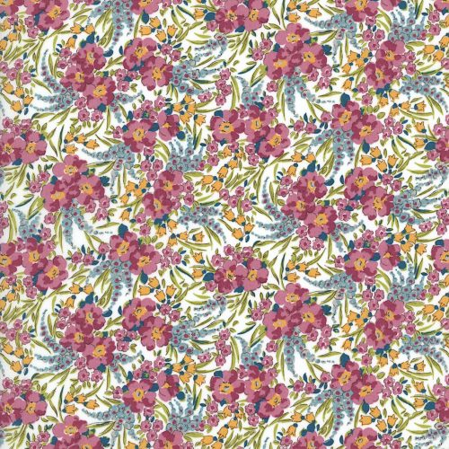 Swirling Petals 19B - Liberty Tana Lawn Classic Collection - Liberty of London