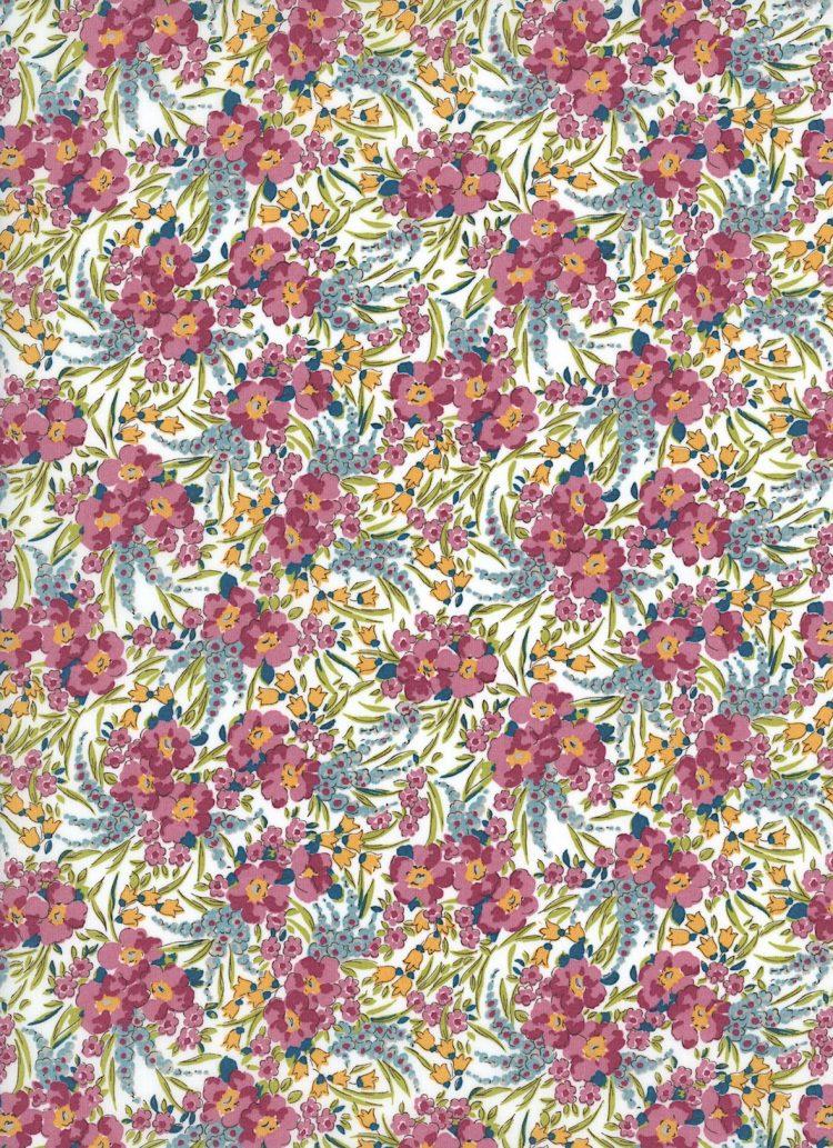 Swirling Petals 19B - Liberty Tana Lawn Classic Collection - Liberty of London