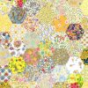 """1"""" hexagons yellow - Liberty Tana Lawn Pre-cuts - The Strawberry Thief"""