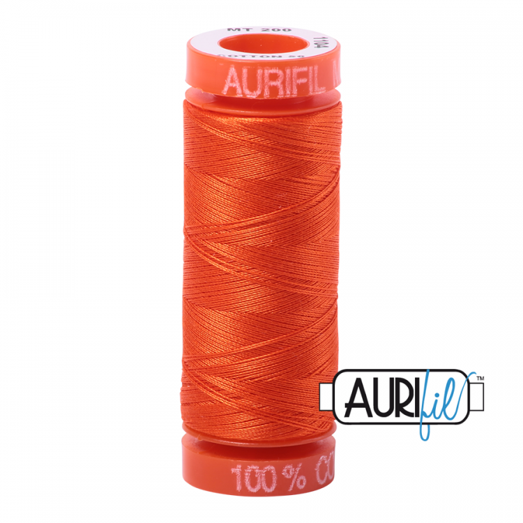 Neon Orange 1104 Aurifil Thread