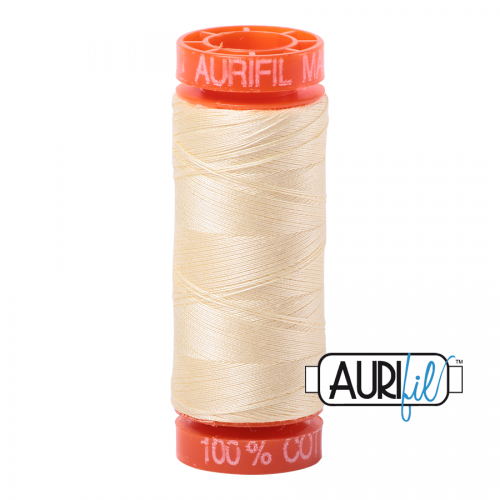 Aurifil Thread 50wt – 2110 Light Lemon