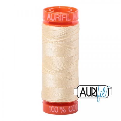 Aurifil Thread 50wt – 2110 Light Lemon