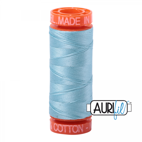 Aurifil Thread 50wt – 2805 Light Grey Turquoise