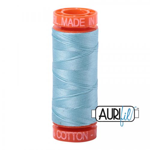 Aurifil Thread 50wt – 2805 Light Grey Turquoise