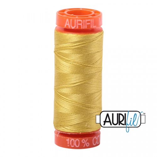Aurifil Thread 50wt – 5015 Gold Yellow