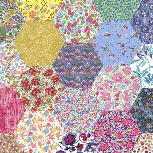 2 inch Hexagons – Bold Rainbow