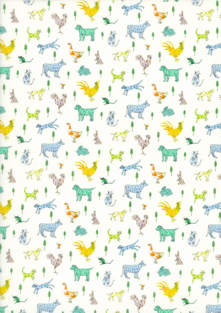 Farmyard Tails B - Liberty Tana Lawn CC17 - The Little Land of Rhymes - Liberty of London