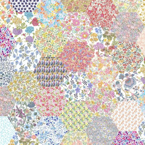 1 inch Hexagons – Pale Rainbow