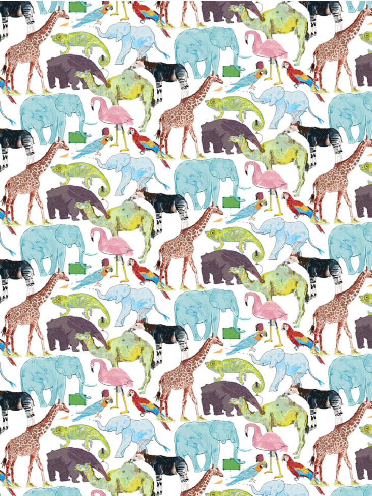 Queue for the Zoo - Liberty Tana Lawn Classic Collection - Liberty of London