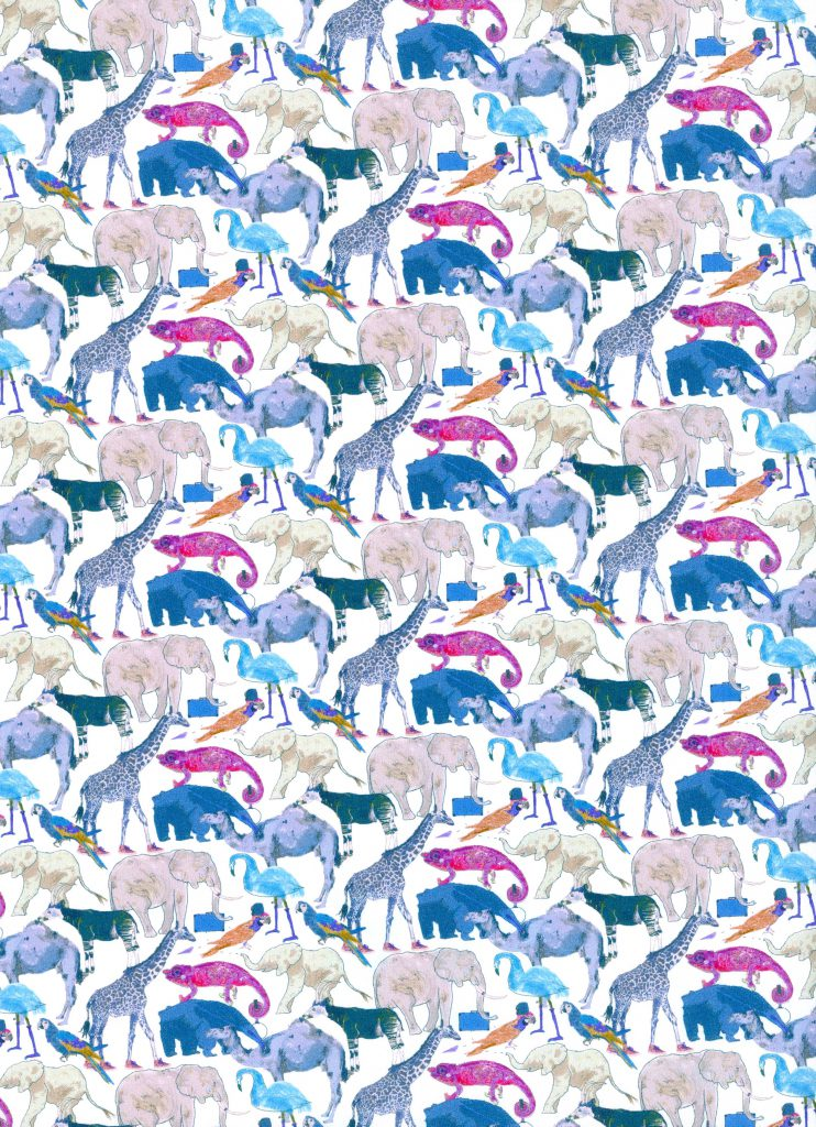 Queue for the Zoo G - Liberty Tana Lawn Classic Collection - Liberty of London