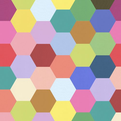 1 inch Hexagons – Rainbow Solids