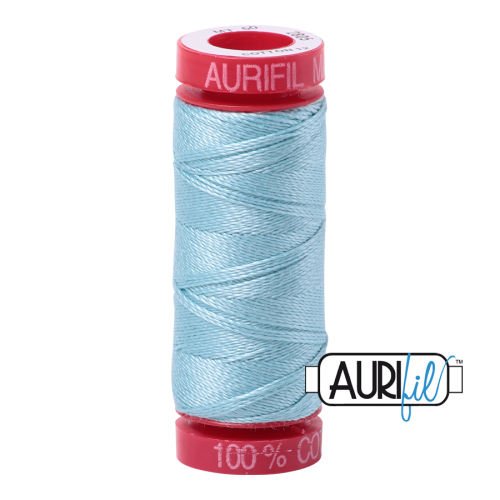 Aurifil Thread 12wt – 2805 Light Grey Turquoise