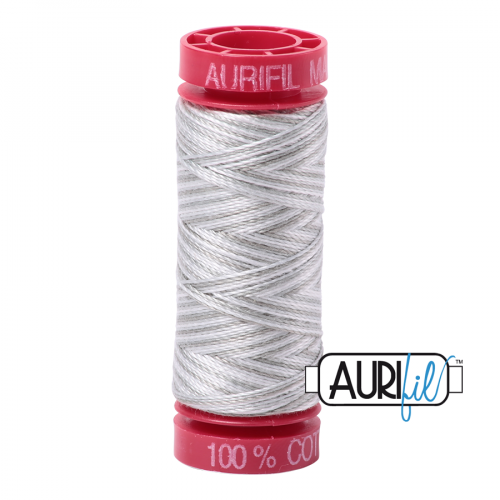 Aurifil Thread 12wt – 4060 Silver Moon