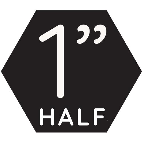 """1"""" Half Top-up"""