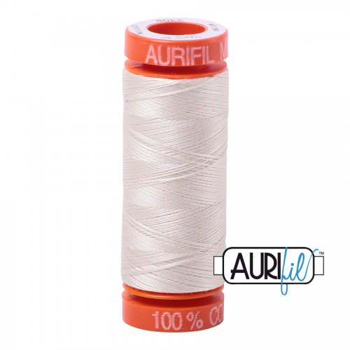 Aurifil Thread 50wt – 2309 Silver White