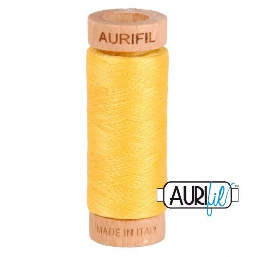 Aurifil Thread 80wt – 1135 Pale Yellow