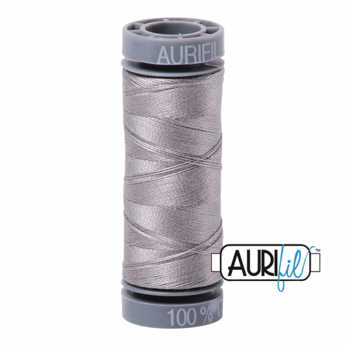 Aurifil Thread 28wt – 2620 Stainless Steel