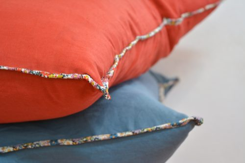 Linen + Liberty Bias Floor Cushion Tutorial