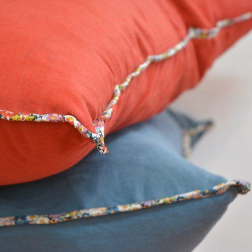 Linen + Liberty Bias Floor Cushion Tutorial