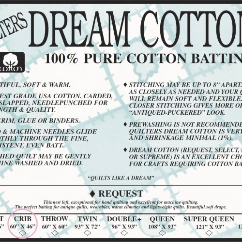 Quilters Dream Request Batting – Natural – Crib